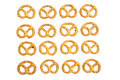 Knot shaped pretzel crackers Royalty Free Stock Images