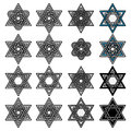 Knoted Israel David stars collection. Vector Royalty Free Stock Photo