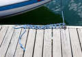 Knots in a Boat Rope Royalty Free Stock Images