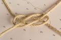 Knots nautical photographed on chart Stock Photo
