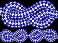 Knotted blue ropes Stock Images