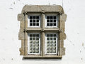 Knotted rope detail on window braga decorated with house in the town of in portugal example of manueline style of architectural Stock Photos