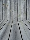 Knotted wooden wall and floor background unpainted as a Royalty Free Stock Images