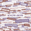 Know how concept illustration graphic tag collection wordcloud collage Royalty Free Stock Image