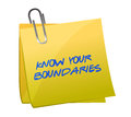 Know your boundaries illustration design over white Royalty Free Stock Images