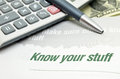 Know your stuff Royalty Free Stock Photo