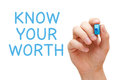 Know Your Worth Royalty Free Stock Photo