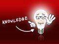 Knowledge Bulb Lamp Energy Light red Royalty Free Stock Photo