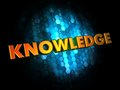Knowledge concept on digital background golden color text dark blue Royalty Free Stock Images