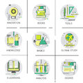 Knowledge Elearning Degree University Education Online Icon Set