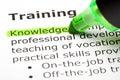 Znalost zvýrazněné trénink