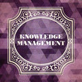 Knowledge management vintage background concept design purple made of triangles Royalty Free Stock Image