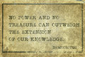 Knowledge outweight Democritus Royalty Free Stock Photo