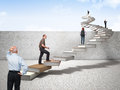 Knowledge stair Royalty Free Stock Photo