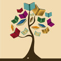The knowledge tree a beautiful composed by books representing Stock Photo