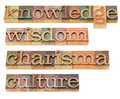 Knowledge, wisdom, charisma and culture Royalty Free Stock Images