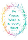 He knows what is in every heart.