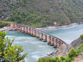 Knysna bridge shot on garden route western cape south africa Stock Photo