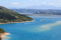 Knysna lagoon view from the heads Royalty Free Stock Photos