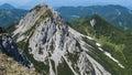Košutica from veliki vrh peak of photographed košuta mountain range Stock Photos