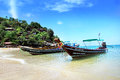 Ko phangan fishing boat fisherman at bay Stock Photo