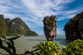 Ko Tapu just off James Bond Island Royalty Free Stock Images