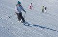 Kobieta jest skiing Zdjęcie Royalty Free