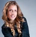 Kobieta z pięknym hair-style Zdjęcia Stock