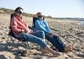 Kobiety plażowych Obrazy Royalty Free