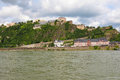 Koblenz famous fortress ehrenbreitstein in germany Royalty Free Stock Images