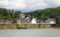 Koblenz view on the bank of the river rhine in germany Stock Photography