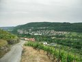 Kochertal in cloudy ambiance rural scenery at summer time southern germany named Royalty Free Stock Photography