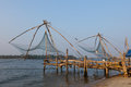Kochi india chinese fishing nets fishnets in kerala Stock Images