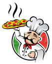 Kockpizza Royaltyfria Bilder