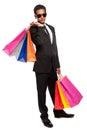 Koel dude young man shopping Stock Afbeeldingen