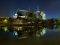 Koenigsberg cathedral in the night russia kaliningrad Stock Image