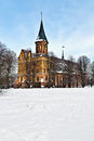 Koenigsberg cathedral in winter kaliningrad before russia Stock Image