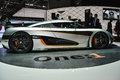 Koenigsegg one at the geneva motor show on display during switzerland march Royalty Free Stock Image
