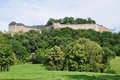 Koenigstein view of the famous castle in saxons Royalty Free Stock Images