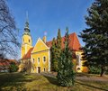 Koenigswartha church in saxony the Royalty Free Stock Image