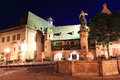 Koïfhus or old customs of colmar city center from to alsace by night Royalty Free Stock Images