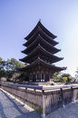 Kofukuji temple five storied pagoda at nara japan Stock Photo