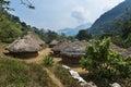 Kogi village in the forest in the Sierra Nevada de Santa Marta in Colombia Royalty Free Stock Photo