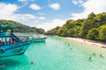 Koh chang in thailand november tourists enjoy the beach and swimming a remote island muk near Stock Photography