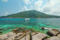Koh nang yuan thailand view spectacular to a paradise bay Royalty Free Stock Photo