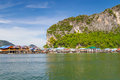 Koh Panyee fisherman village in Thailand Stock Photography