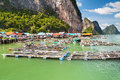 Koh panyee settlement built on stilts of phang nga bay thailand Royalty Free Stock Photography