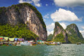 Koh Panyee village on Phang Nga Bay Stock Image