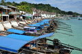 Koh Phi Phi Don, Thailand: Long Boats Stock Image