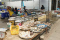 Koh samui thailand asia january traditional fish market on on january in southeast Royalty Free Stock Image